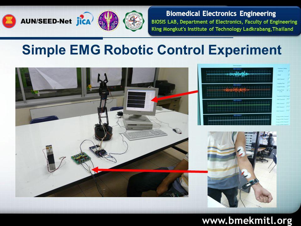 Simple EMG Robotic Control Experiment www.bmekmitl.org