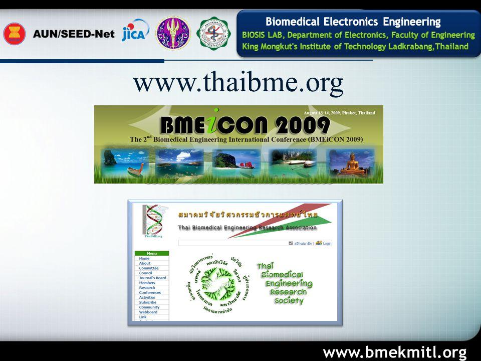 Company Logo www.bmekmitl.org www.thaibme.org