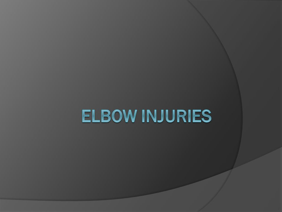 Degrees of a Flexor Strain  Minor-characterized by discomfort at the anterior aspect of the elbow and minimal swelling.