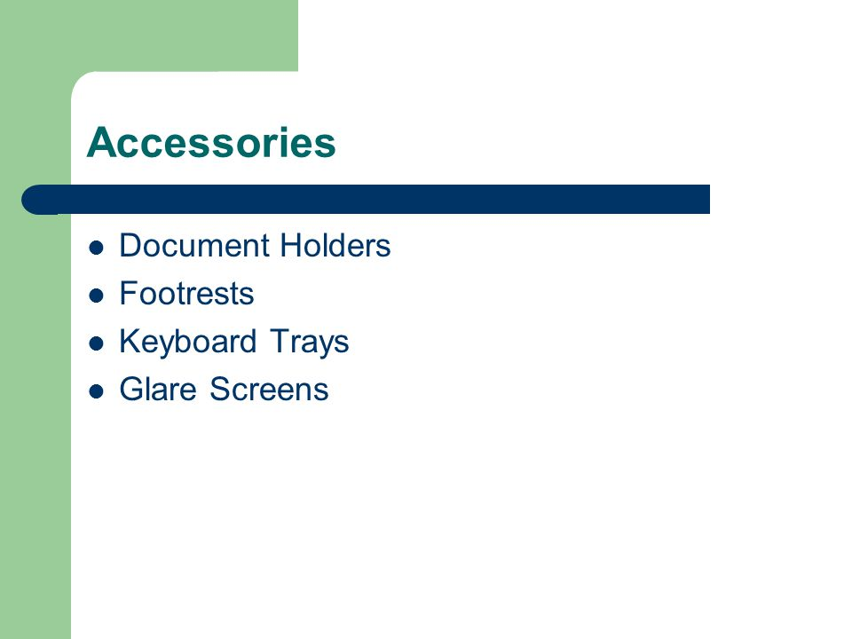 Accessories Document Holders Footrests Keyboard Trays Glare Screens