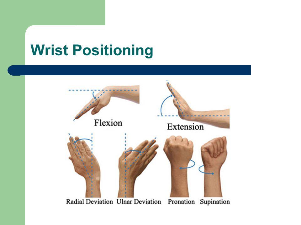 Wrist Positioning