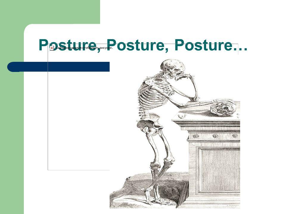 Posture, Posture, Posture…