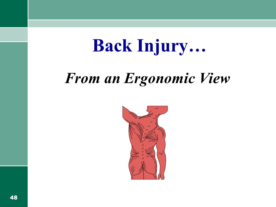 48 Back Injury… From an Ergonomic View