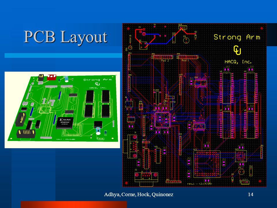 Adhya, Corne, Hock, Quinonez14 PCB Layout