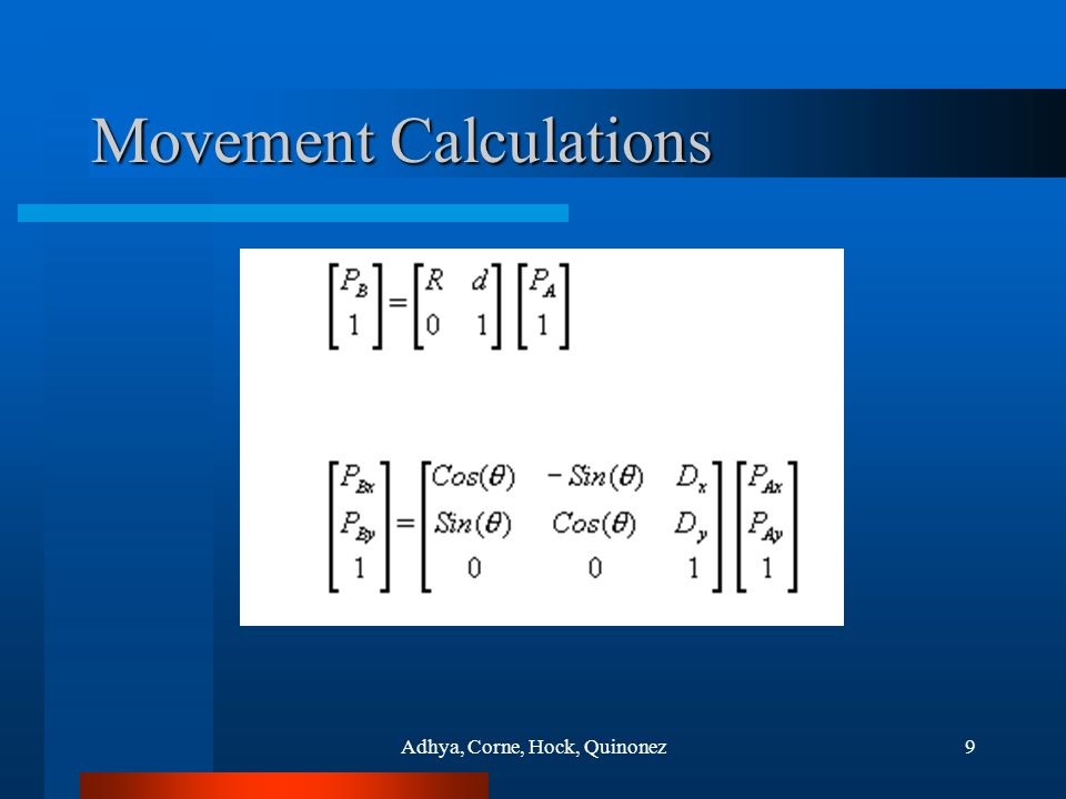Adhya, Corne, Hock, Quinonez9 Movement Calculations