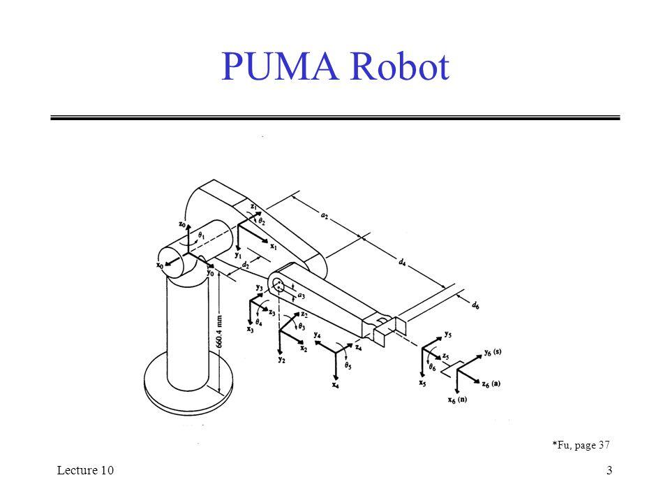 Lecture 103 PUMA Robot *Fu, page 37