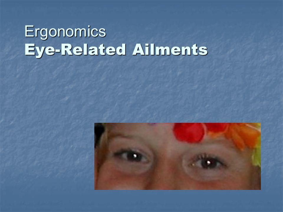 Ergonomics Eye-Related Ailments