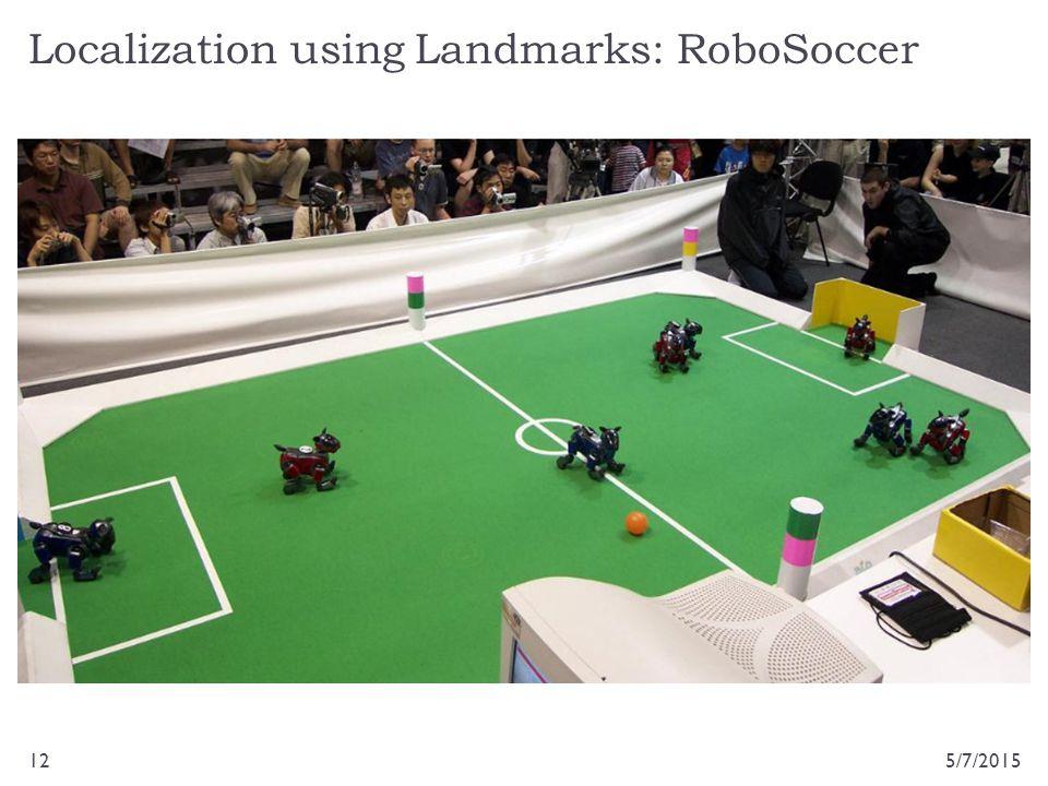 Localization using Landmarks: RoboSoccer 5/7/201512