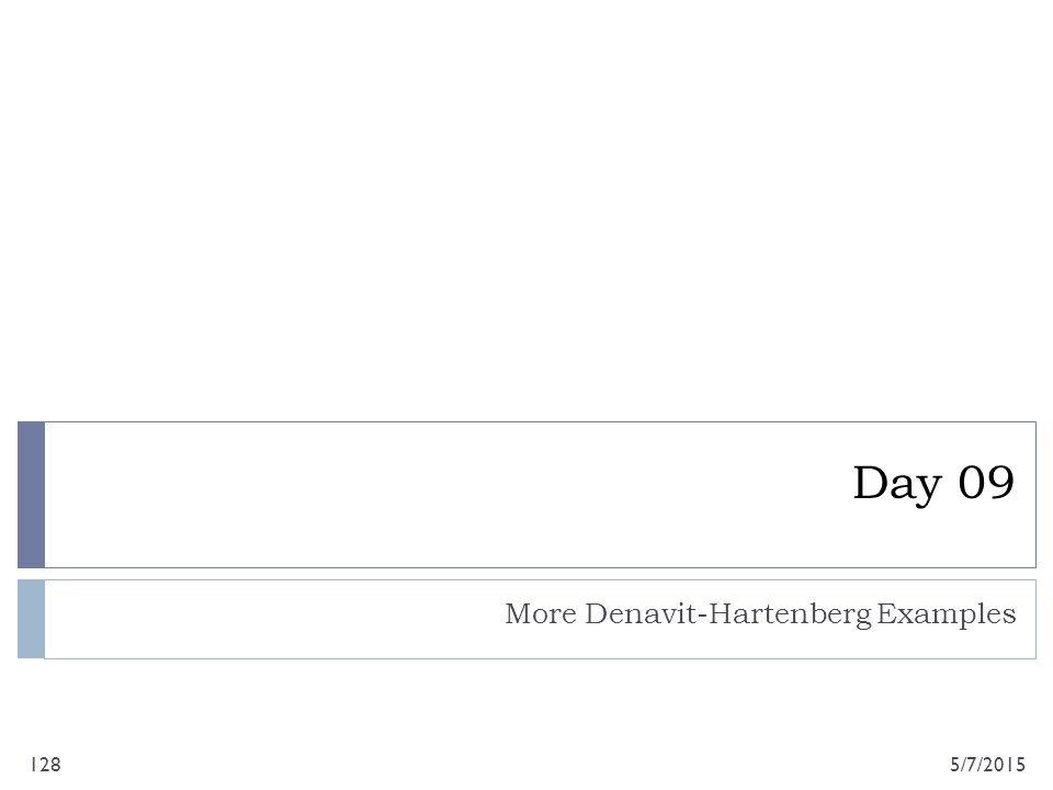 Day 09 More Denavit-Hartenberg Examples 5/7/2015128