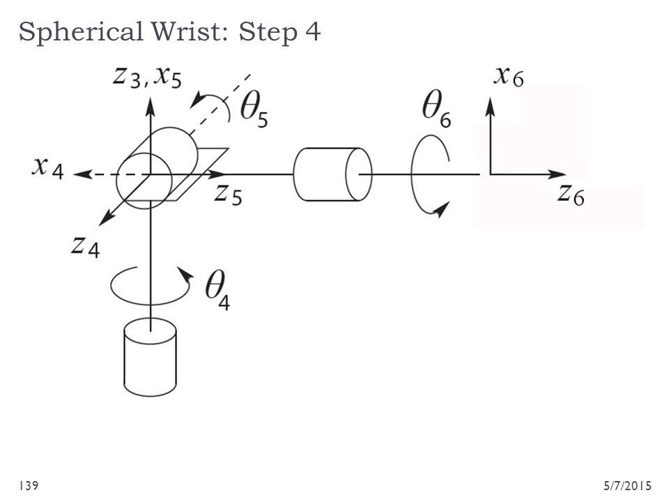Spherical Wrist: Step 4 5/7/2015139
