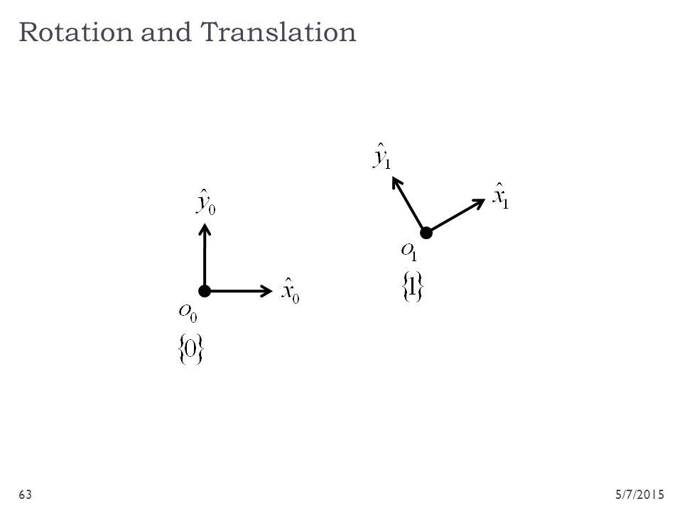 Rotation and Translation 5/7/201563