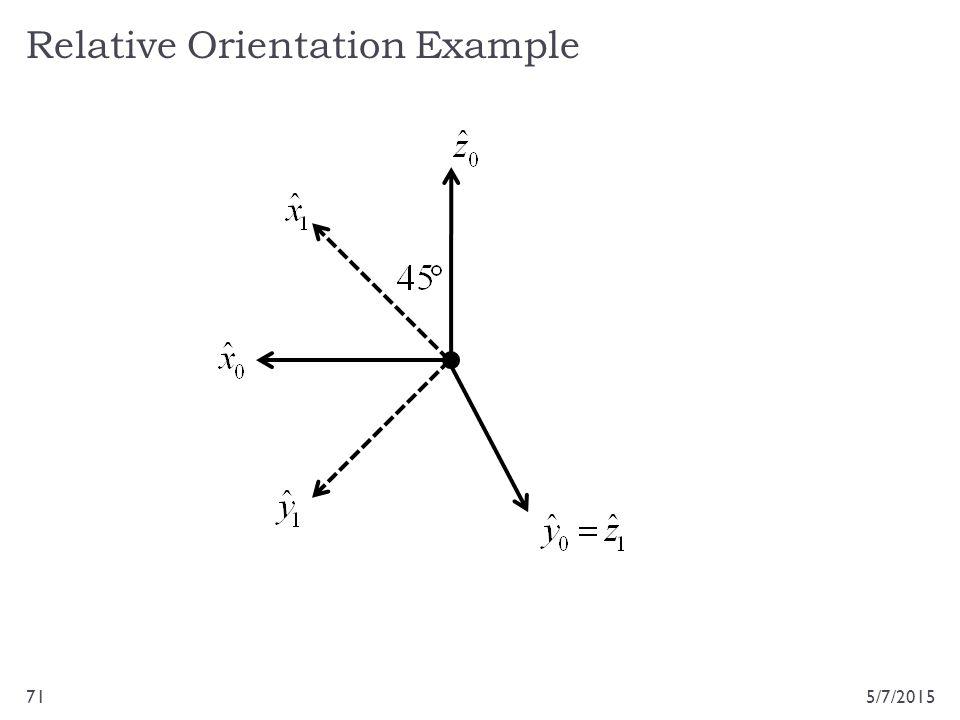 Relative Orientation Example 5/7/201571