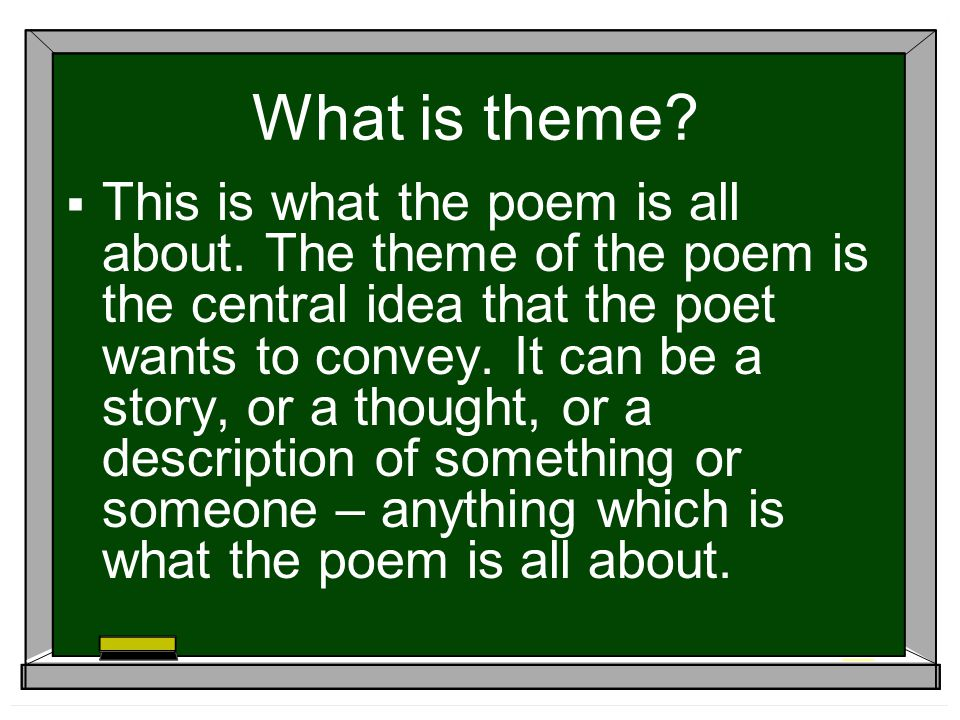 What is symbolism. Often poems will convey ideas and thoughts using symbols.