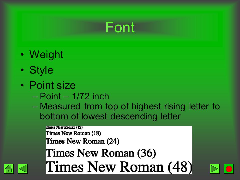 Font Shape of letters Printer internal fonts Soft font selection from a font library