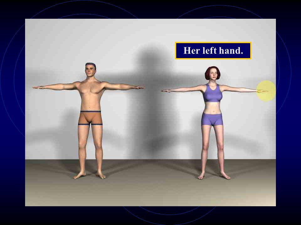 Her left hand.