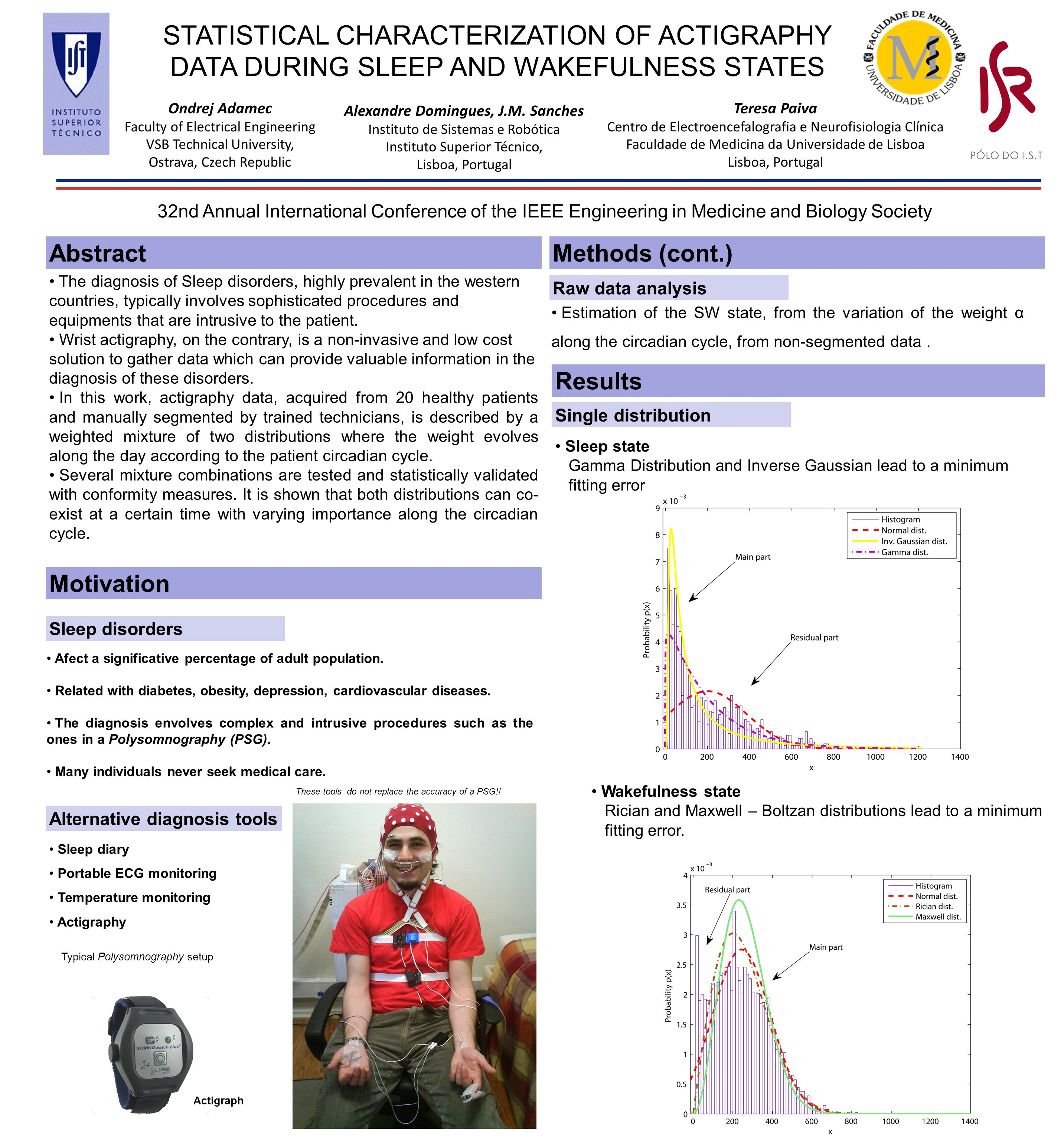 STATISTICAL CHARACTERIZATION OF ACTIGRAPHY DATA DURING SLEEP AND WAKEFULNESS STATES Alexandre Domingues, J.M.