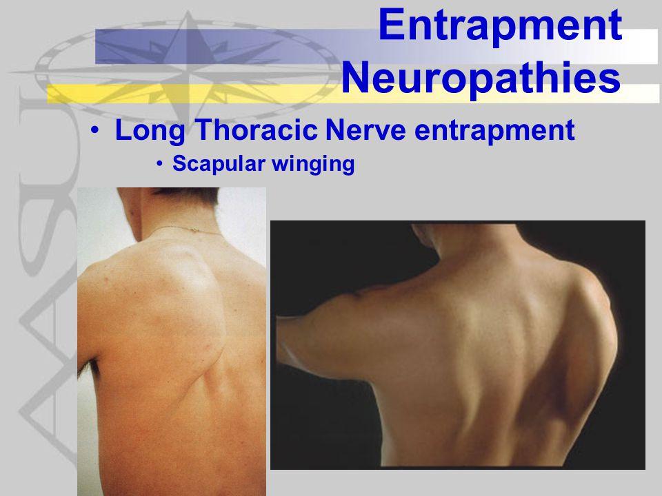 Entrapment Neuropathies Long Thoracic Nerve entrapment Scapular winging
