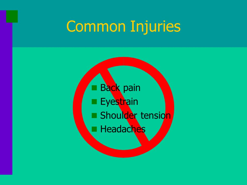 Common Injuries Carpal Tunnel Syndrome When lining around tendons is inflamed, there is less space for the nerve and it becomes compressed.