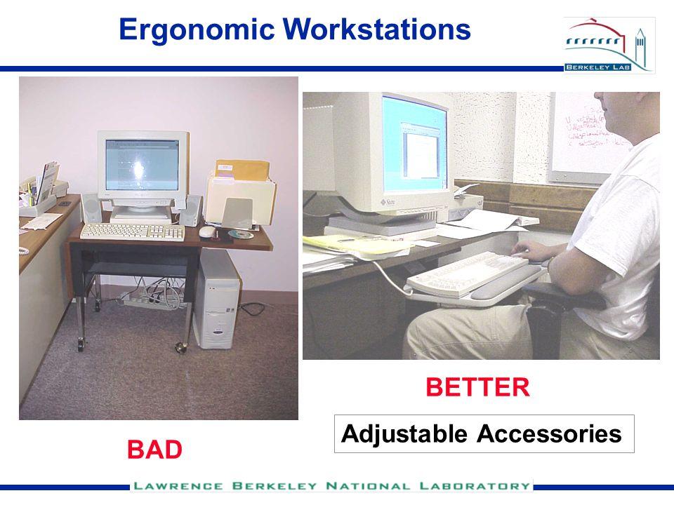 Ergonomic Workstations BAD BETTER Adjustable Accessories