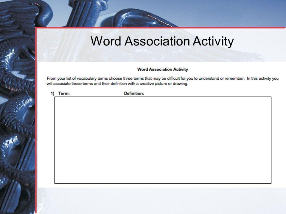 Word Association Activity