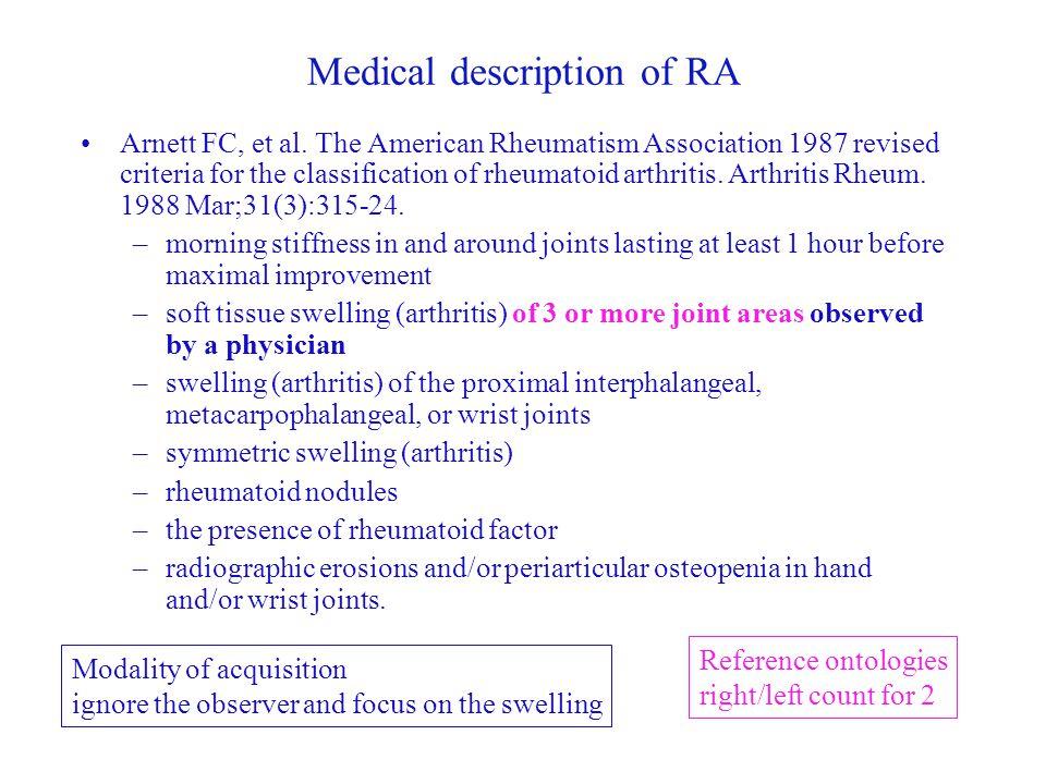 Medical description of RA Arnett FC, et al.
