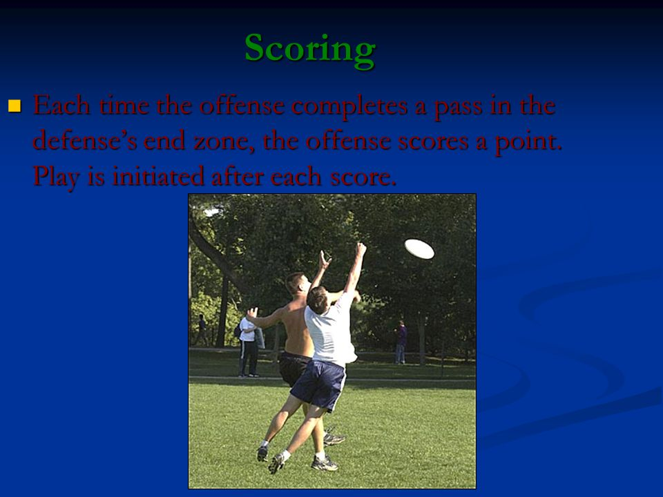 Movement of the Disc The disc may be advanced in any direction by completing a pass to a teammate.