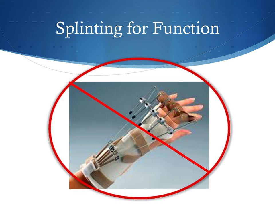 Splinting for Function