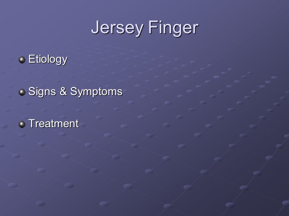 Mallet Finger Etiology Signs & Symptoms Treatment: