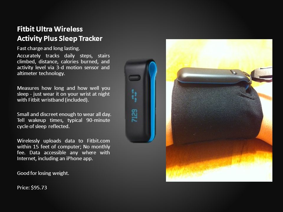 Fitbit Ultra Wireless Activity Plus Sleep Tracker Fast charge and long lasting.