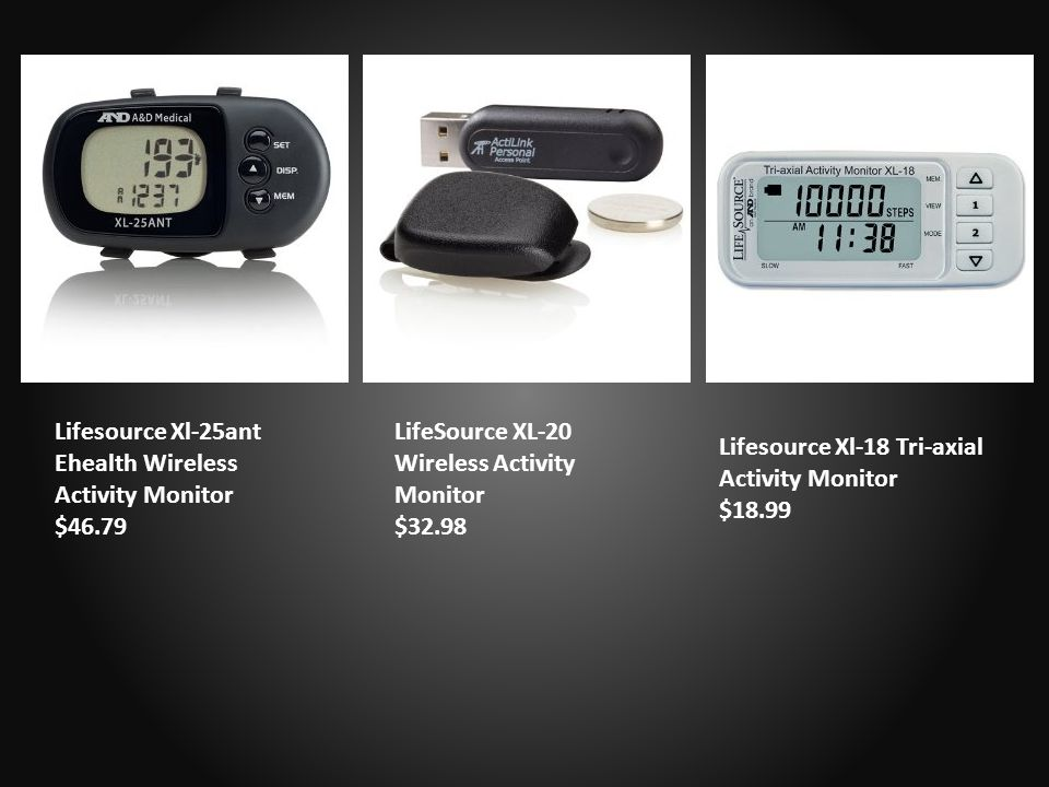 Lifesource Xl-25ant Ehealth Wireless Activity Monitor $46.79 LifeSource XL-20 Wireless Activity Monitor $32.98 Lifesource Xl-18 Tri-axial Activity Monitor $18.99
