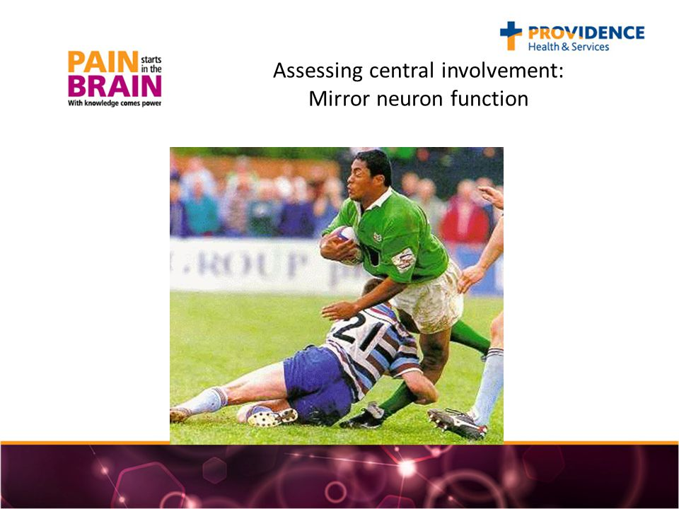 Assessing central involvement: Mirror neuron function