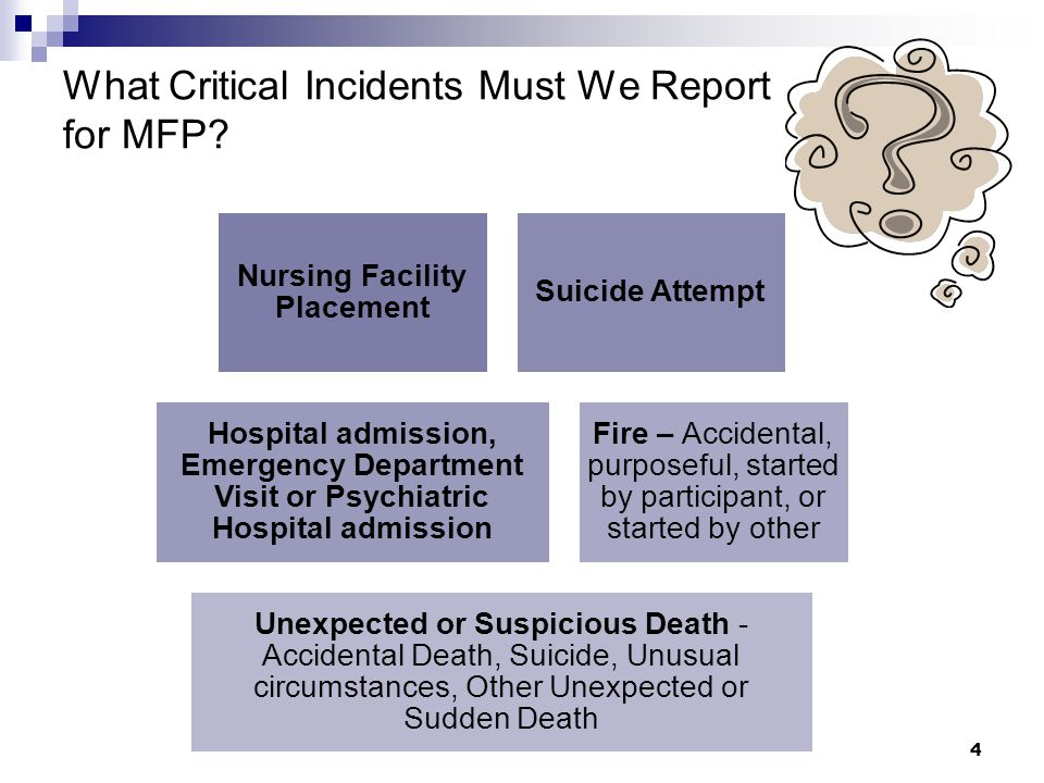 What Critical Incidents Must We Report for MFP.