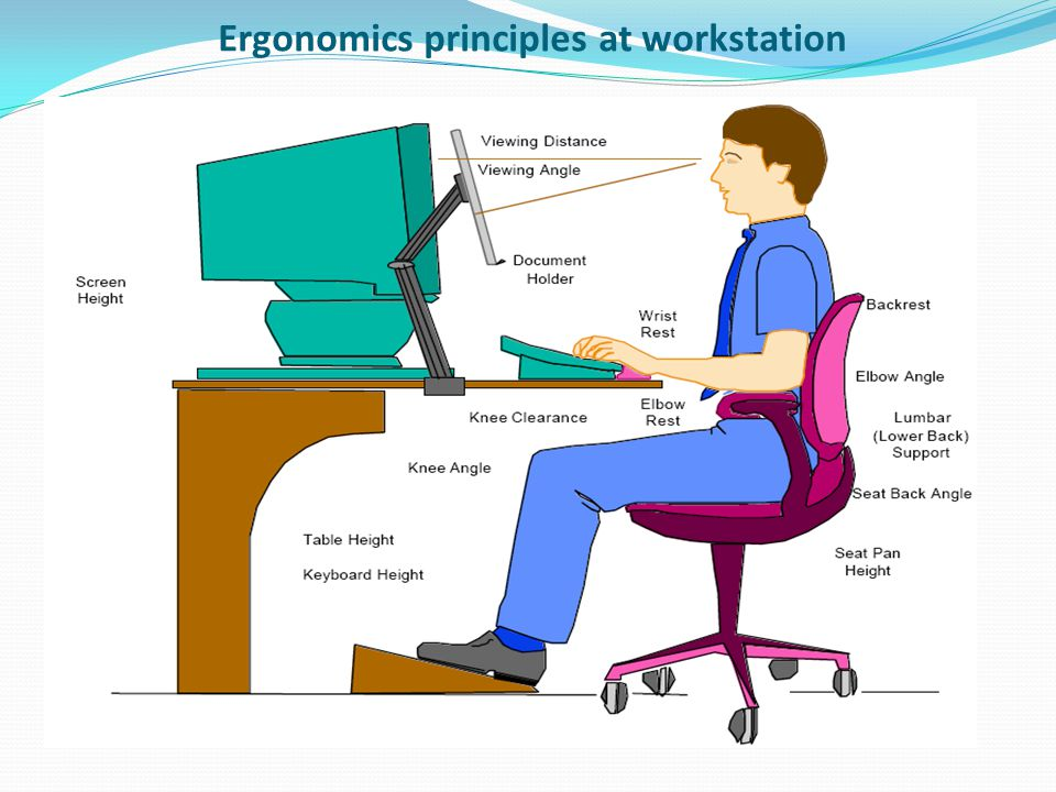 Ergonomics principles at workstation
