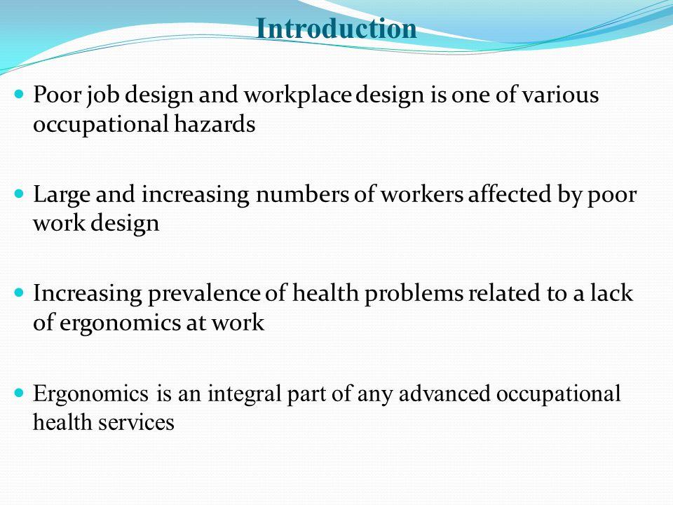 Ergonomics principles at workstation