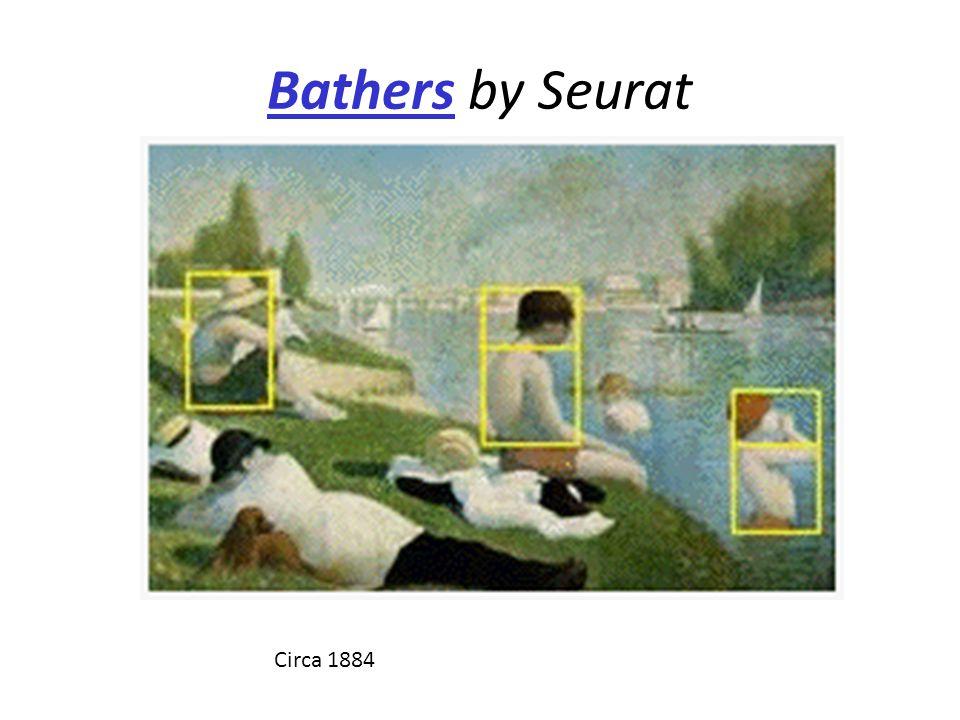 Bathers by Seurat Circa 1884