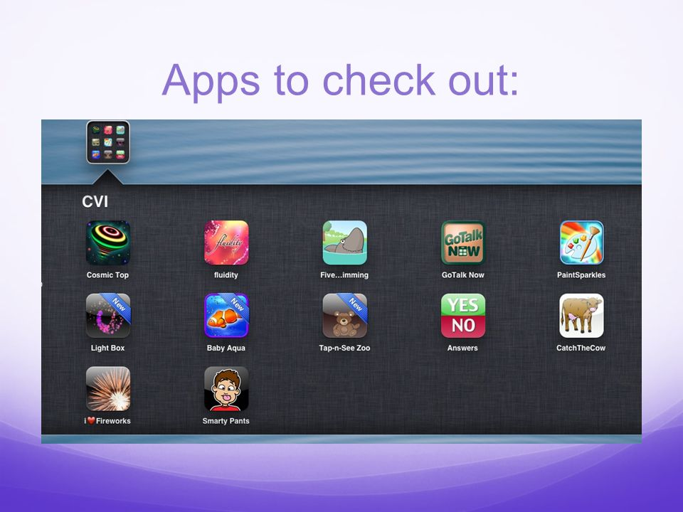 Apps to check out: