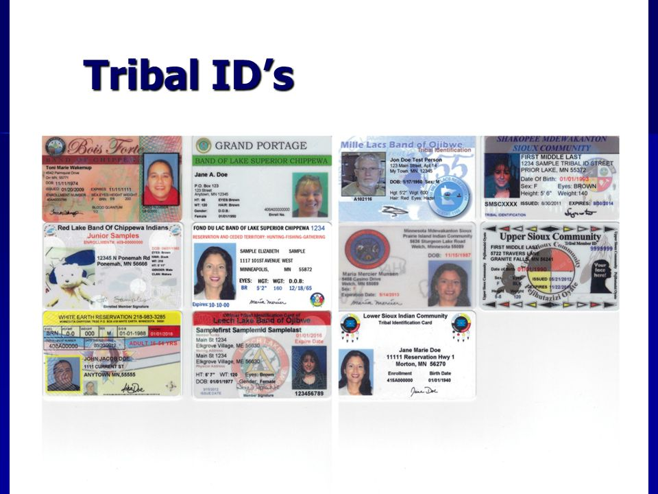 Tribal ID's