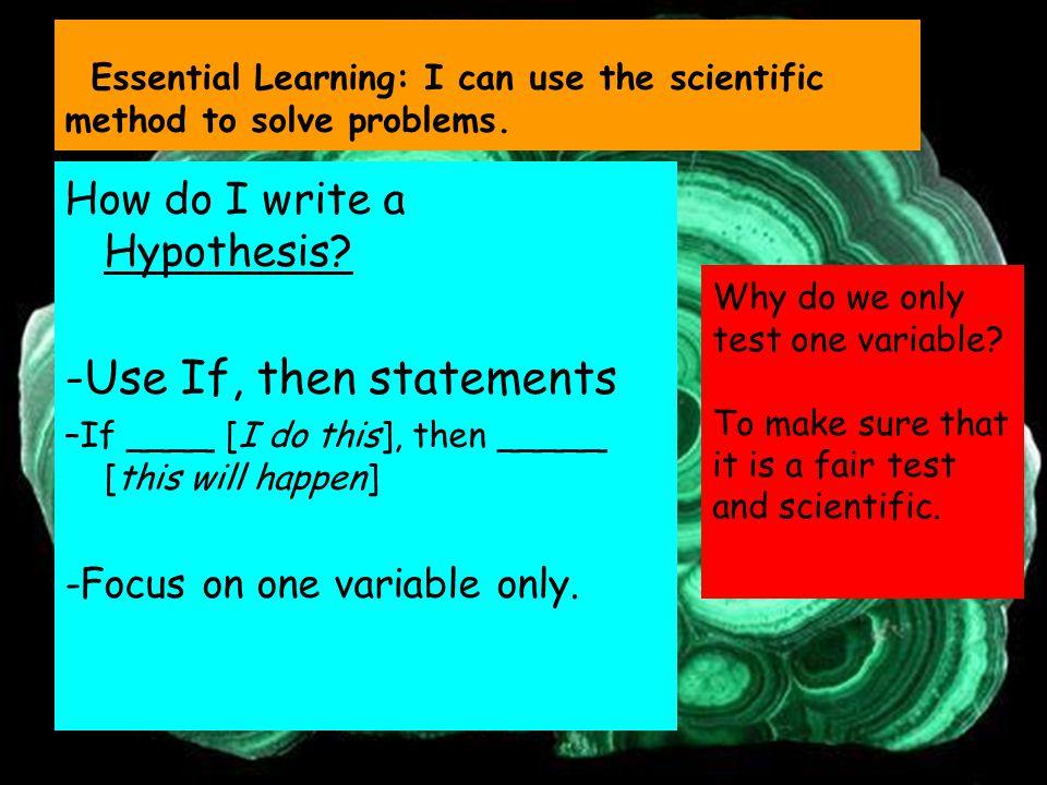 How do I write a Hypothesis.