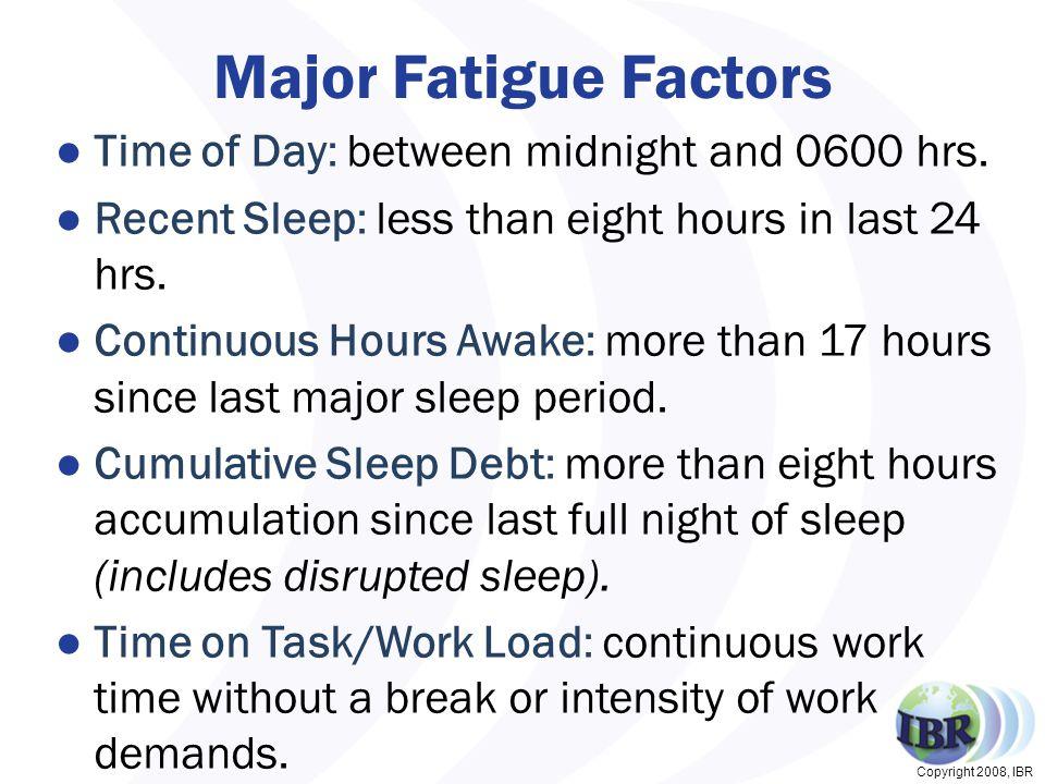 Copyright 2008, IBR C 10014 Honolulu to Salt Lake Altered Sleep Pattern 33 Altered Sleep Pattern