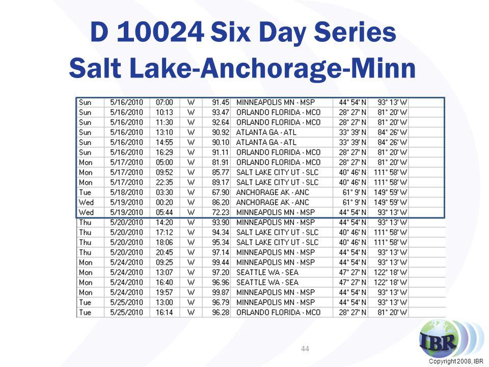Copyright 2008, IBR D 10024 Six Day Series Salt Lake-Anchorage-Minn 44