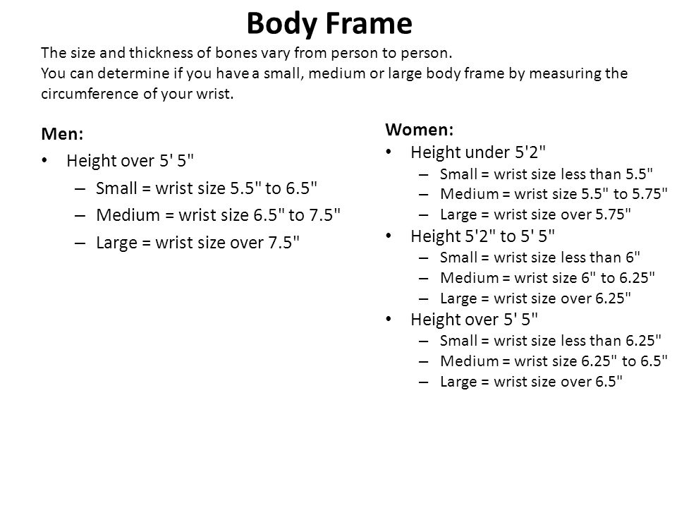 Fancy How To Tell What Size Frame Your Body Is Component - Ideas de ...
