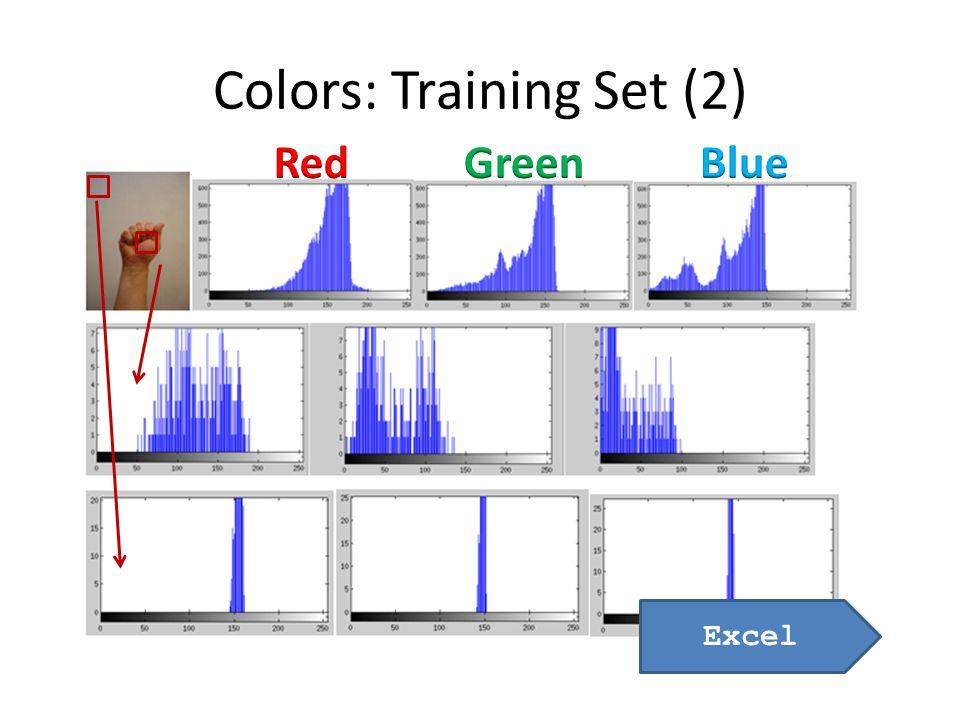 Colors: Training Set (2) Excel