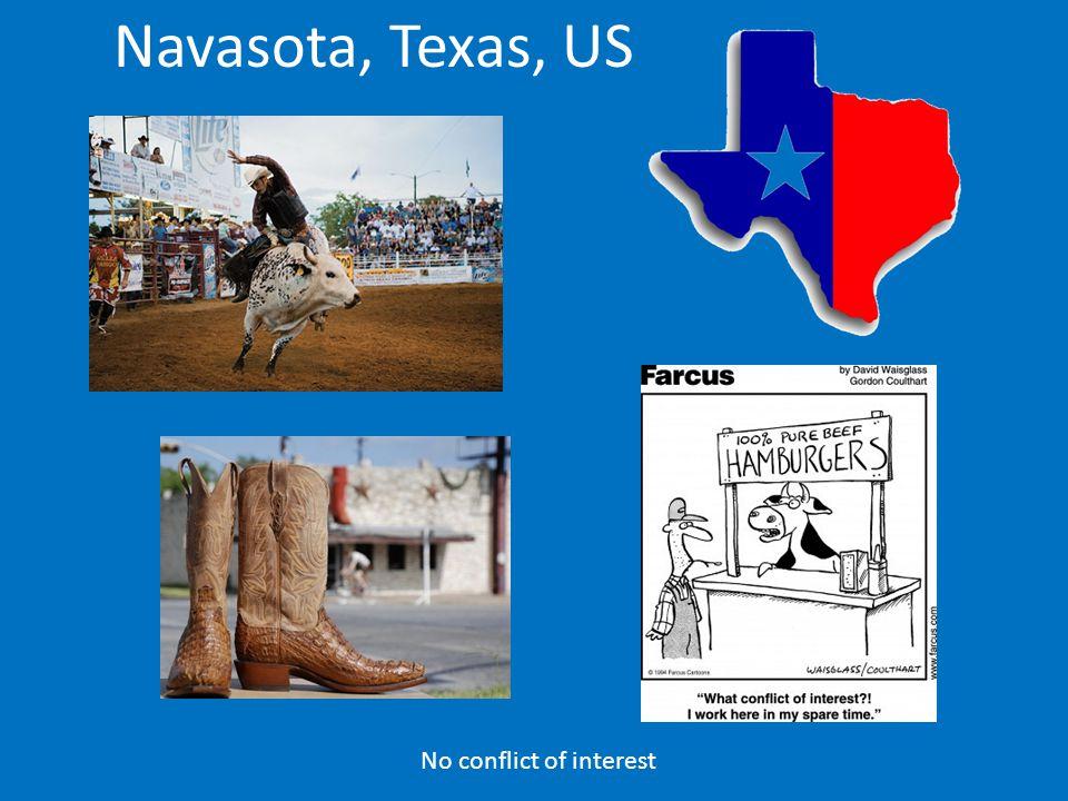 No conflict of interest Navasota, Texas, US