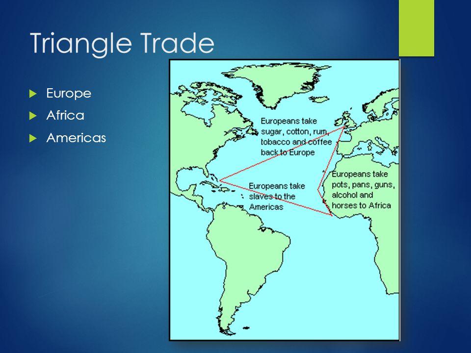 Triangle Trade  Europe  Africa  Americas