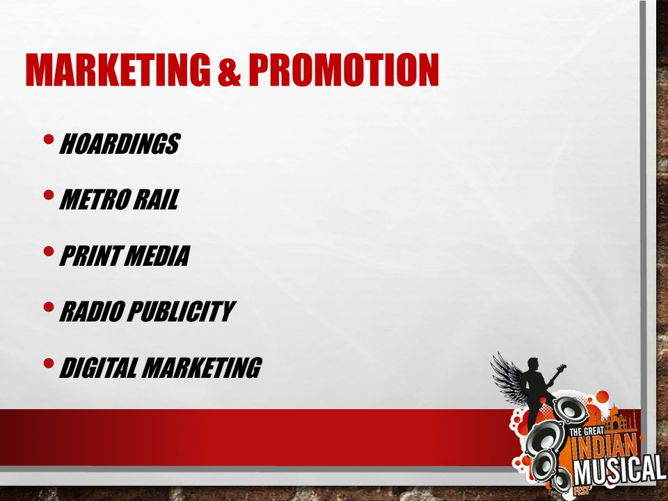 MARKETING & PROMOTION HOARDINGS METRO RAIL PRINT MEDIA RADIO PUBLICITY DIGITAL MARKETING