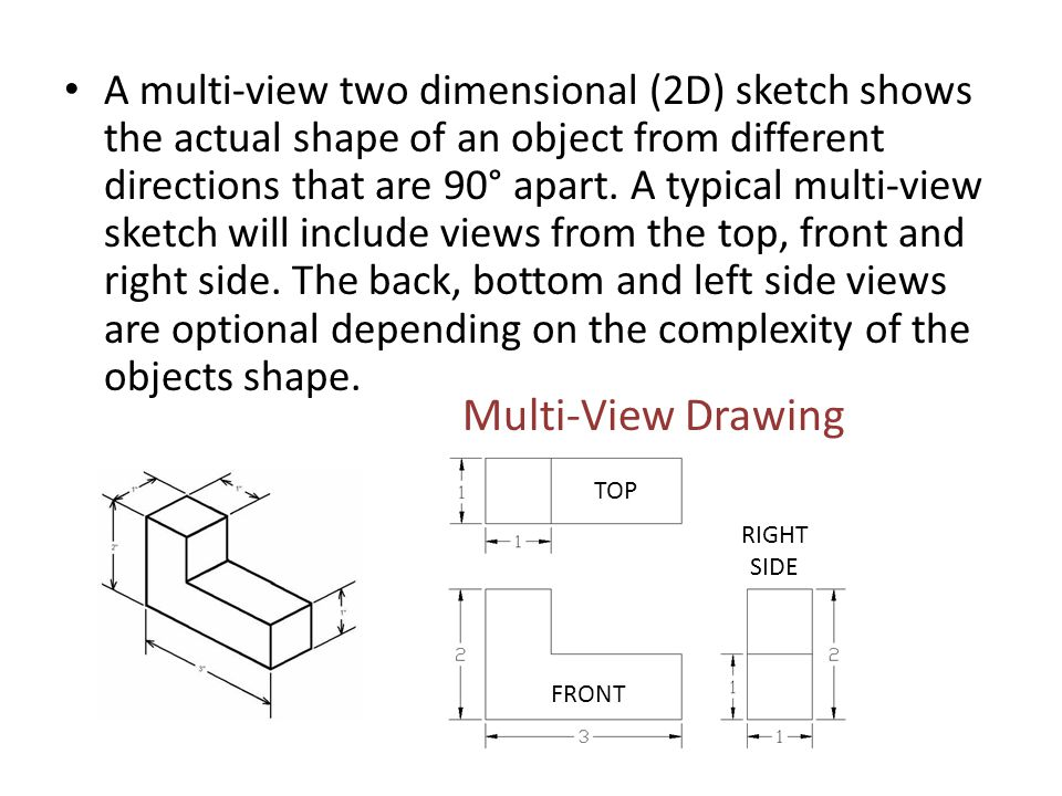 Making A Multi-view Sketch Step 1 - ANALYZE THE OBJECT.