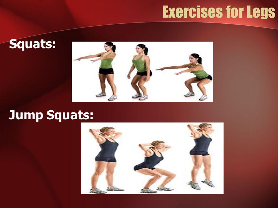 Exercises for Legs Squats: Jump Squats: