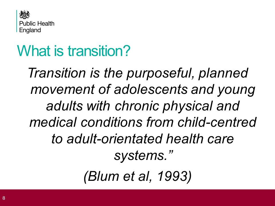 What is transition.