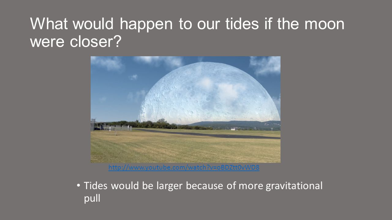 What would happen to our tides if the moon were closer.