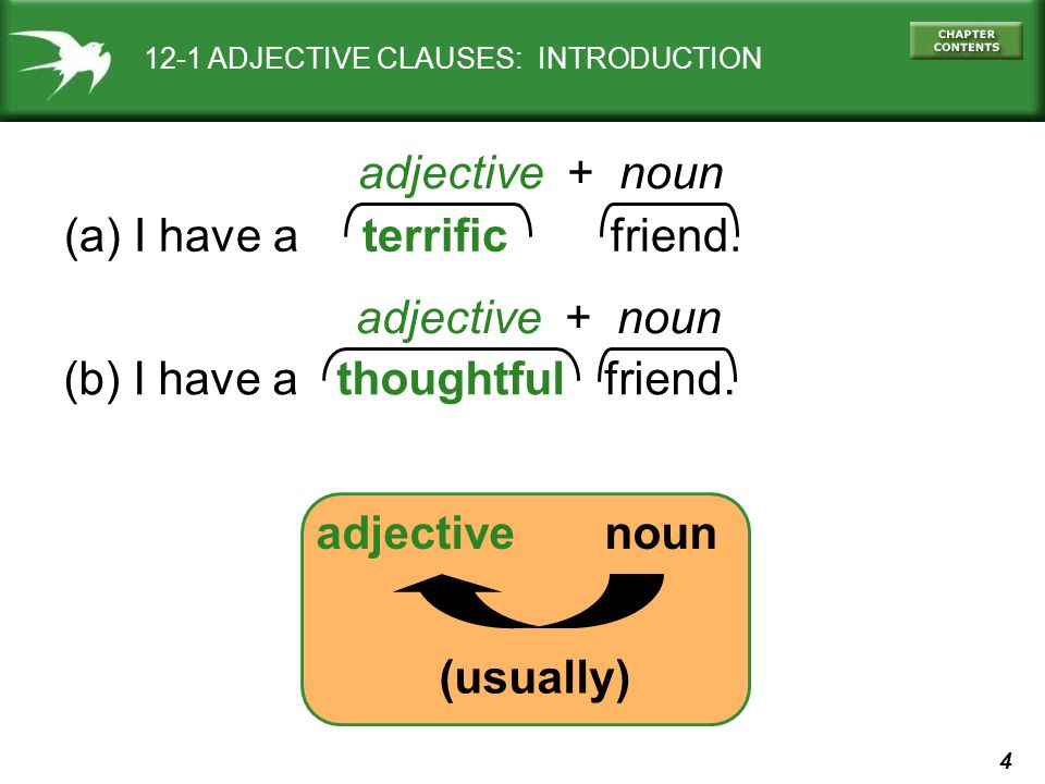 35 12-6 USING PREPOSITIONS IN ADJECTIVE CLAUSES (a) The teacher is friendly.